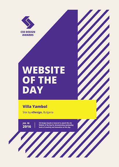 Международно отличие за villayambol.com